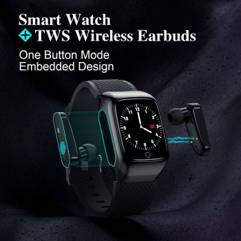S300 Smart Watch Men Earbuds With Earphones Music Sports for Exercise Run Two in One for Android for iOS