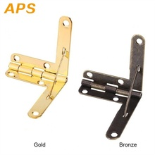 Hinge-Lid Hardware Spring Jewelry Wood-Lid Angle-Support Gift Antique 90-Degree 10pcs