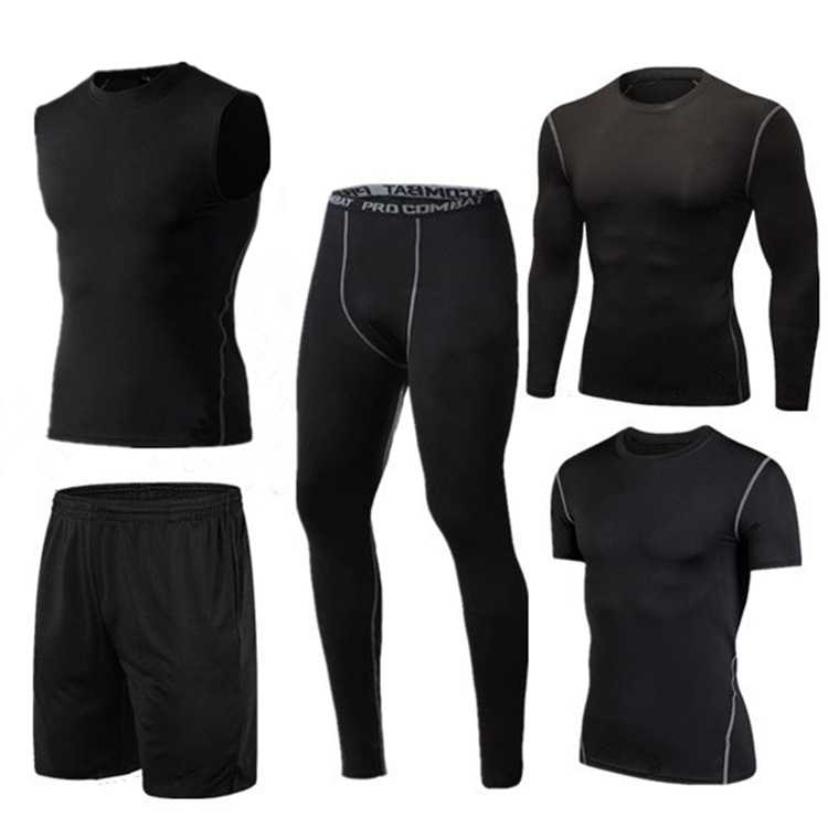 Sports Set Men's Autumn And Winter New Style Casual Men Fitness Suit Quick-Dry Running Training Sports Fitness Pants Set