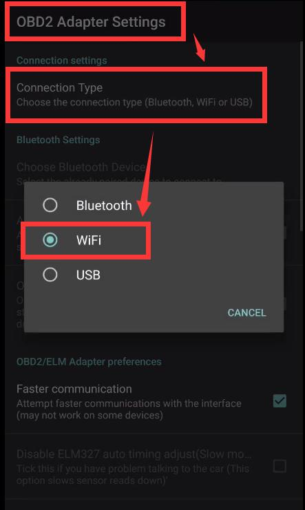 Connection Type- WiFi