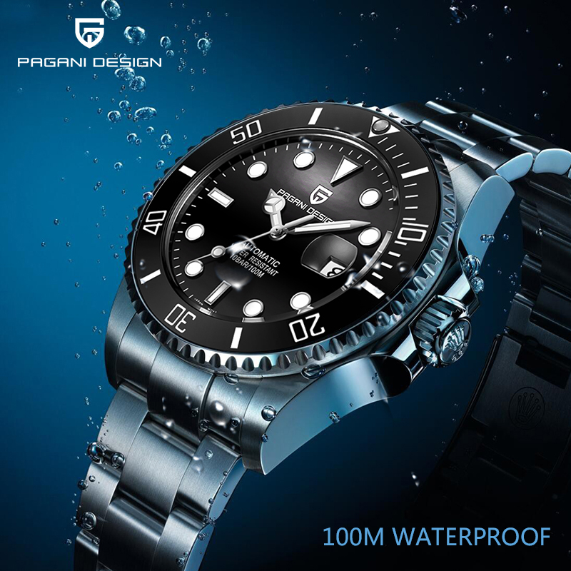 PAGANI DESIGN Top Luxury Brand Men's Watches Business Mechanical Wristwatch Mens Waterproof Automatic Clock Male Stainless Steel