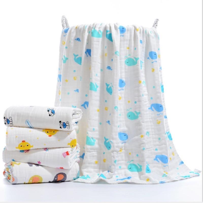 Baby Swaddling Wrap Cotton Muslin Newborn Supplies Infant Baby Envelope Pure Cotton Gauze Wrap Swaddle Blanket Towel 120*120cm
