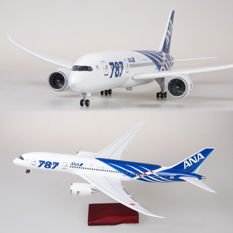 47cm Alloy Aircraft Model 1/130 Simulation Boeing B787 Japan ANA Airline Airplane W Light&Wheel Diecast Plastic Plane Collection