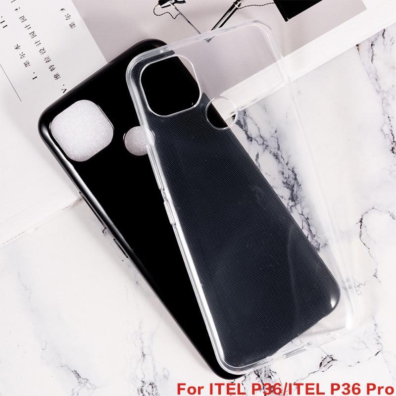 Macio preto tpu caso para itel p36 gel pudim silicone caso protetor telefone capa traseira para itel p36 pro itel visão 1 plus etui