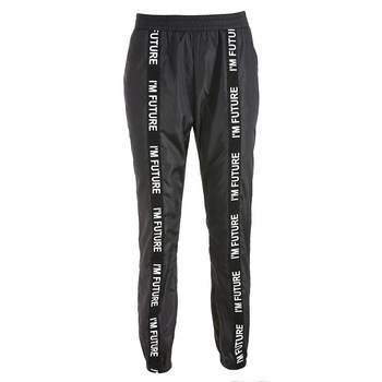 HOUZHOU Harem Pants Trousers Women Full Length Loose Jogger Mujer Sporting Elastic Waist Black Casual Combat Streetwear Fashion 5