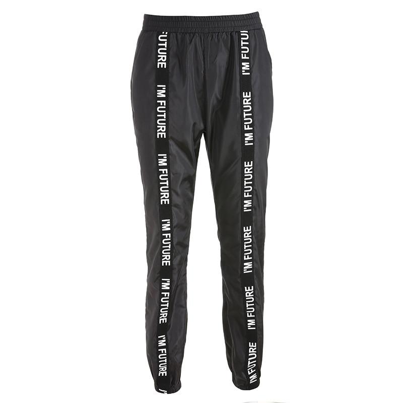 HOUZHOU Harem Pants Trousers Women Full Length Loose Jogger Mujer Sporting Elastic Waist Black Casual Combat Streetwear Fashion 5