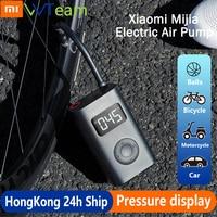 Xiaomi Mijia-Bomba eléctrica portátil para motocicleta, compresor de aire, sensor digital inteligente de neumáticos, inflable, para coche y balón de fútbol