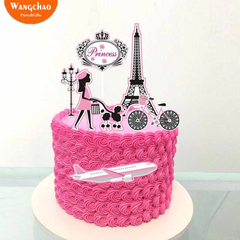 Astonishing Romantic Paris Travel Dream Theme 21St Happy Birthday Cake Topper Personalised Birthday Cards Akebfashionlily Jamesorg