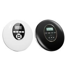 Reproductor de CD Estilo Redondo, auriculares portátiles HiFi, Walkman de CD, Reproductor de disco, recargable, a prueba de golpes