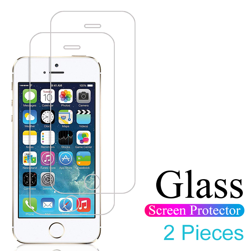 2 Pieces Protective Glass For Iphone 5 5s Se 5c Tempered Glass On The For Iphone 4 4s Screen Protector Glass Flim Full Cover 4.0(China)