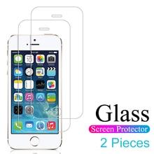 Película vidro temperado para iphone, 5 5S se 5c 2 peças vidro protetor de tela para iphone 4 4S vidro flim cobertura completa 4.0