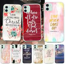 Nbdruicai Ayat Alkitab Filipi Yesus Kristen Coque Shell Ponsel Case untuk iPhone 11 Pro XS MAX 8 7 6 6S Plus X 5S SE XR Cover(China)