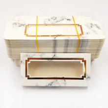 Novo 50 pçs caixa de embalagem de cílios de borboleta por atacado caixas de cílios vazios caixas de pacote de cílios caso 25mm cílios retângulo caixa