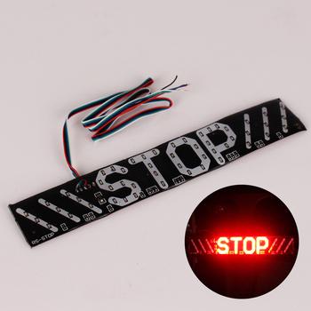 1PC LED lampa do motocykla lampa błyskowa wskaźnik hamowania lampa hamulca Turn Signal jazda Taillight DC12V uniwersalne ostrzeżenie akcesoria oświetleniowe tanie i dobre opinie Ostrzeżenie Sygnał Świetlny Motorcycle Warning Light Red Light + Yellow Light Driving lights Brake Lights Turn Signal