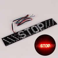 1pc LED Motorcycle Light Flash STOP Moto Indicator Lamp Brake Turn Signal Driving Taillight DC 12V Universal Warning Light