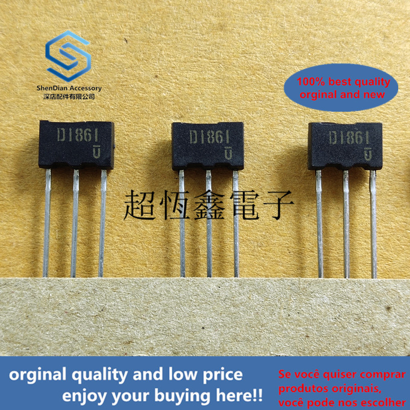 5pcs 100% Orginal New 2SD1861 TV2 D1861 Epitaxial Planar NPN Silicon Darlington Transistors Real Photo