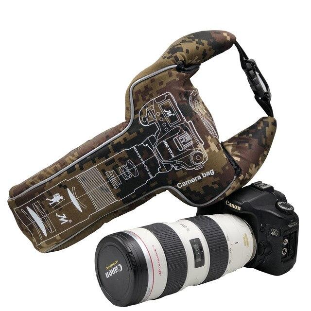 مثلث التمويه الرقمية DSLR كاميرا فيديو حقيبة عدسة أنبوب صدمات الرياضة التصوير واقية ل Pentax كانون نيكون