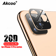 Akcoo 20D Camera lens film for iPhone 11 Pro Max Tempered glass camera protector with metal frame XR XS