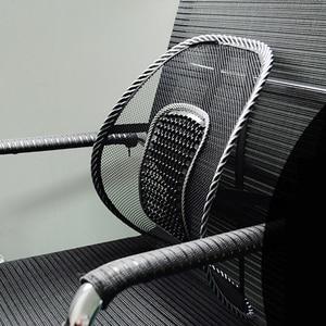 Image 2 - Siège de voiture chaise de bureau Massage dos soutien lombaire maille ventiler coussin coussin noir maille dos lombaire coussin pour conducteur de voiture