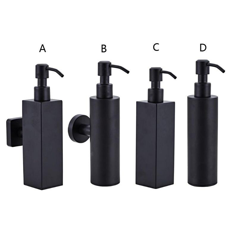 200ml Wall Mounted Shower Bottle Pump Stainless Steel Shampoo Dispenser
