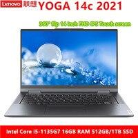 Lenovo YOGA 14c 2021 portátil i5-1135G7 16GB RAM 512GB/1TB SSD ThunderBolt 4,0 WiFi 6 pantalla táctil Windows 10 Ultraslim computadora