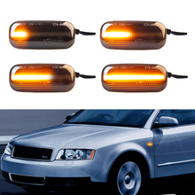 2x Turn Signal Light Sequential Blinker Light Led Dynamic Side Marker Light For Audi A4 S4 RS4 A6 S6 RS6 C5 C7 A3 S3 8P B6 B7 B8 led flowing rear view dynamic sequential mirror turn water signal light for audi a3 a4 b8 b8 5 a5 8w a6 c7 rs6 s6 4g c7 5 q5 q7