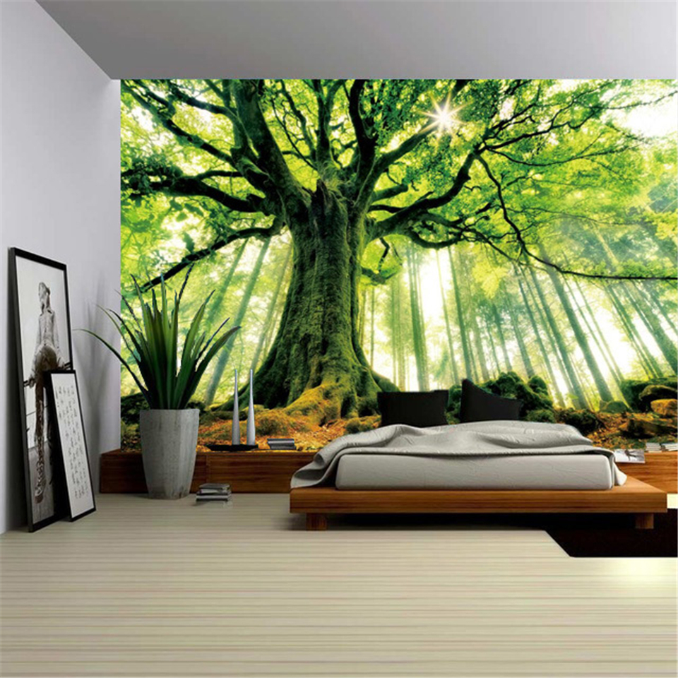 Beautiful Sky Giant Tree Tapestry Nature Art Wall Hanging Blanket Hippie Psychedelic Trees Boho Decor Wall Tapestries Landscape