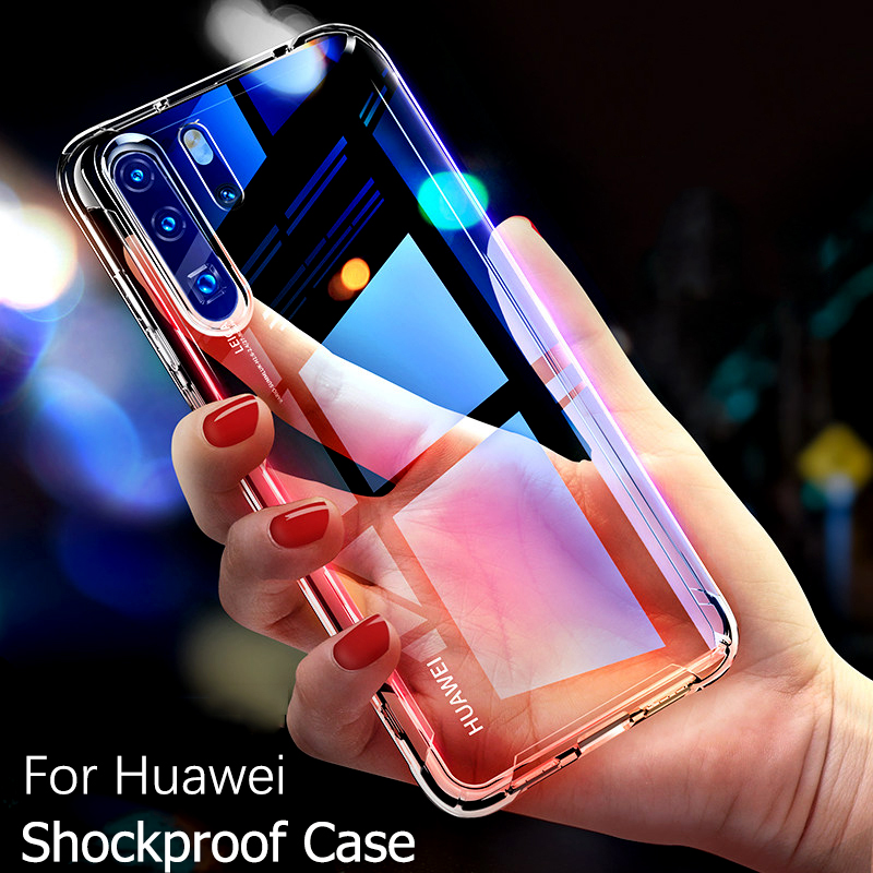 Transparent Airbag <font><b>Case</b></font> For <font><b>Huawei</b></font> Mate 30 Pro P30 <font><b>P20</b></font> Lite P Smart Plus 2019 Silicone Shockproof Cover Honor 10 Lite 10i 20 8X image
