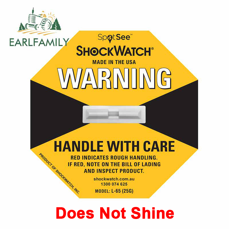 EARLFAMILY 13cm x 13cm For ShockWatch Label Vinyl Material Decal Repair Car Sticker Does Not Shine Car Styling Waterproof Decor