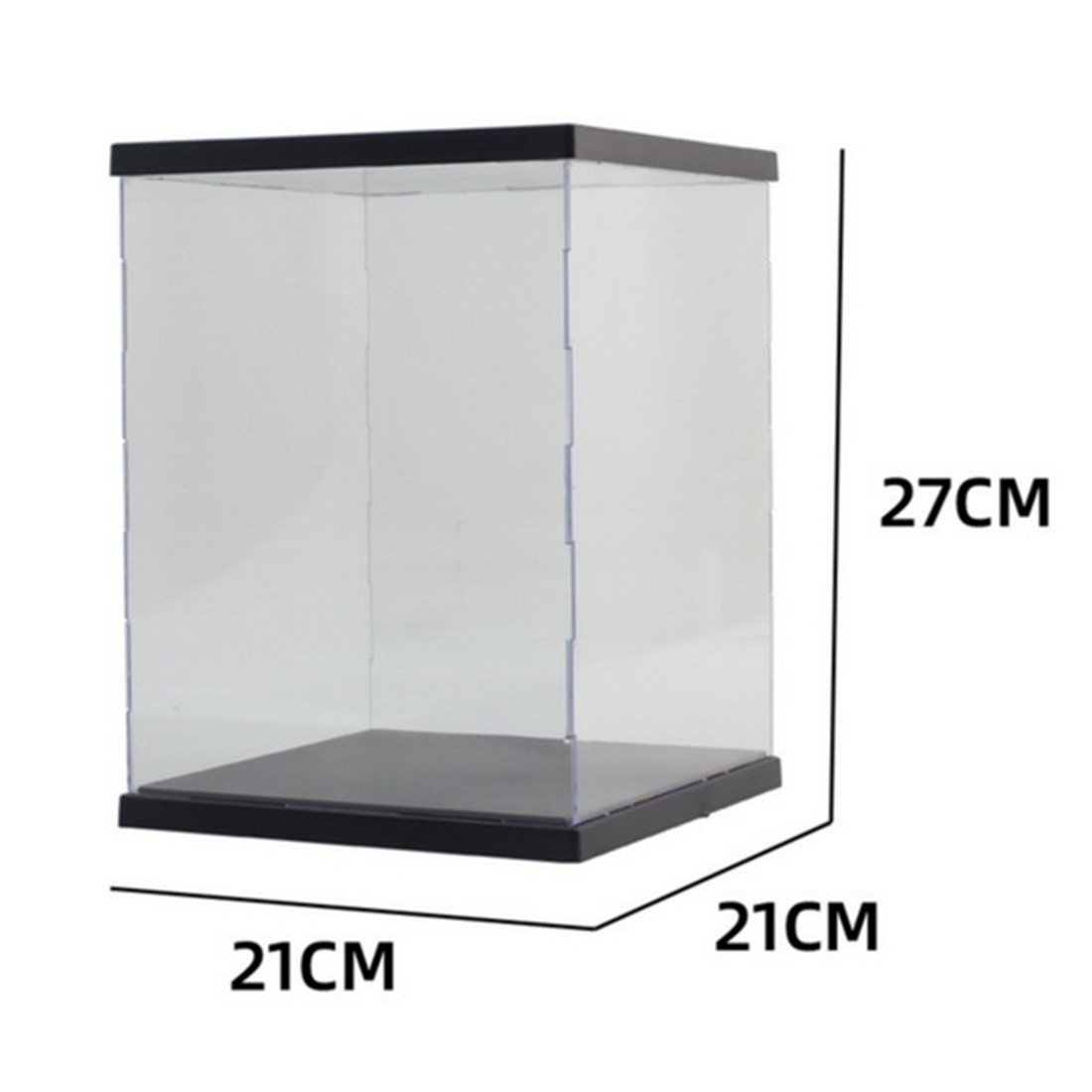 21 x 21 x 27cm Dustproof Storage Display Showing Box Case With Light For MG RG <font><b>BB</b></font> For <font><b>Gundam</b></font> Model Action Figure Toy Accessories image