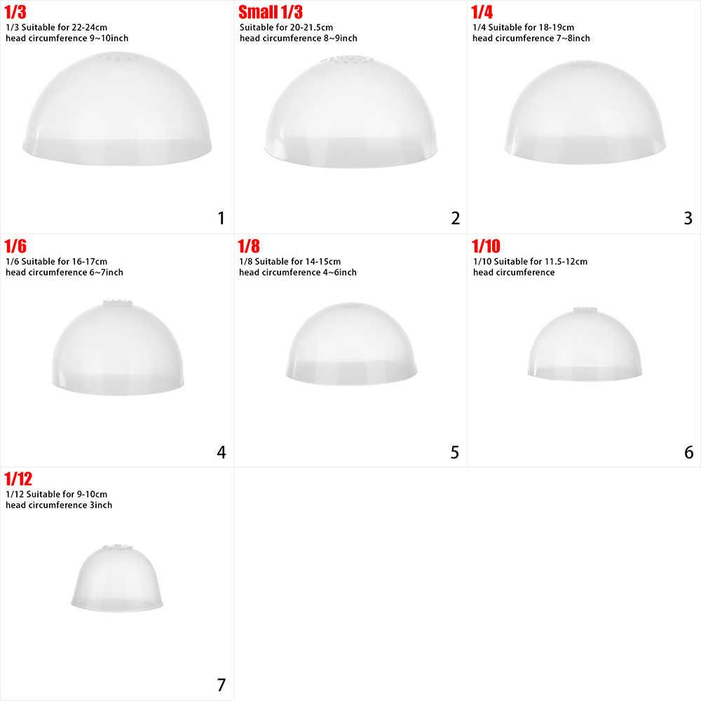 7 Maten Pop-Specifieke Vaste Pruik Hoofddeksels Siliconen Hoofddeksels Voor 1/3 -1/12 Diy Pop Anti Slip Anti Kleuring haar Pruiken Cover