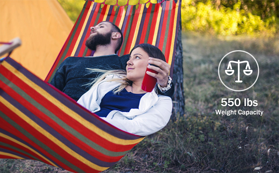 MOSFiATA-Camping-Hammock-with-Thickened-320G-Durable-Canvas-Fabric-Sturdy-Metal-Knot-Tree-Straps-Hanging-Chair-Garden-Furniture-12