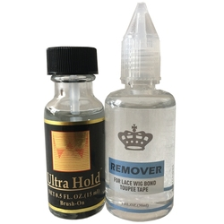 1 garrafa/lote 0.5 oz 15 ml ultra hold cola peruca de renda à prova dwaterproof água cola adesiva de silicone 1 meses de duração