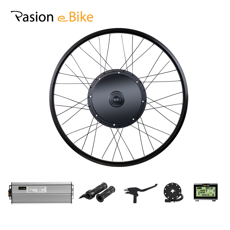 48V 1500W 1000W Electric Bike Motor Wheel EBike Conversion Kit 26inch With LCD3 / LCD8 Display Rear Hub Motor