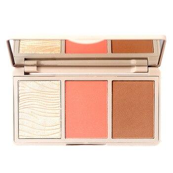 Three-color Blush Pallete Matte Glitter Highlighting Face Mineral Pigment Cheek Blusher Powder Makeup Contour Shadow Blusher 1