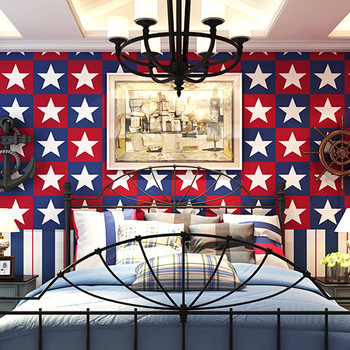10m waterproof Children wallpaper star pattern for bedroom living room office kitchen wall papers home decor