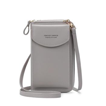 2020 Fashion Cell Phone Case Designer Small Shoulder Bag for Women PU Leather Ladies Crossbody Bag Female Mini Messenger Bags - Gray