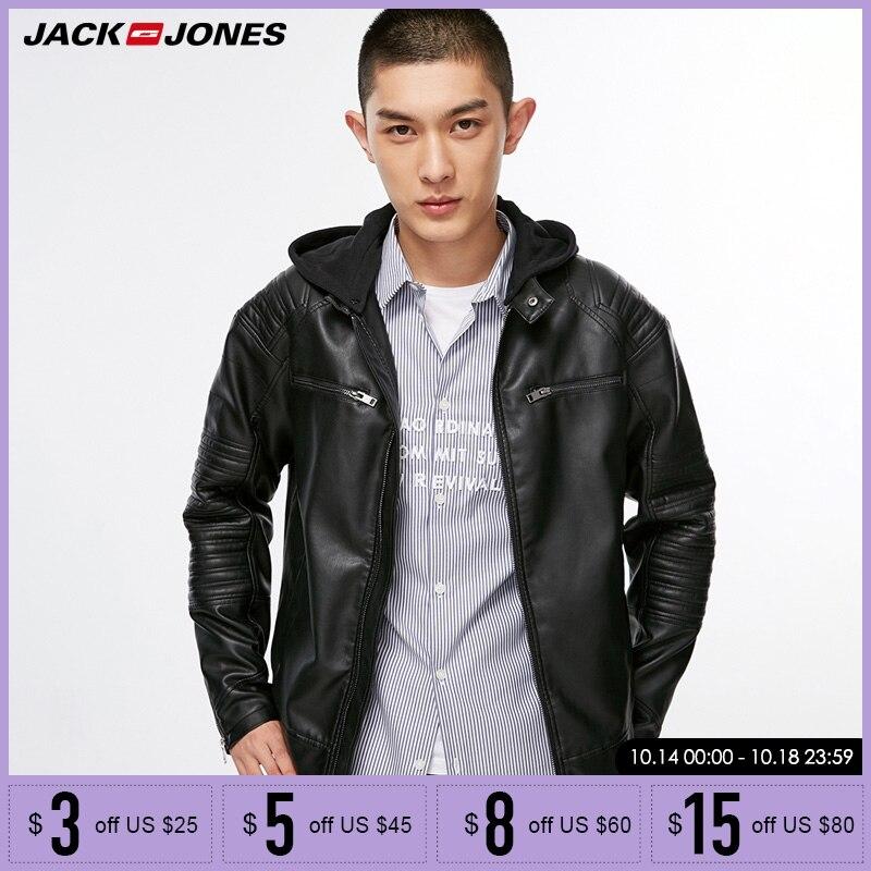 Jack Jones herren Biker Outwear PU Leder Jacke | 218321558