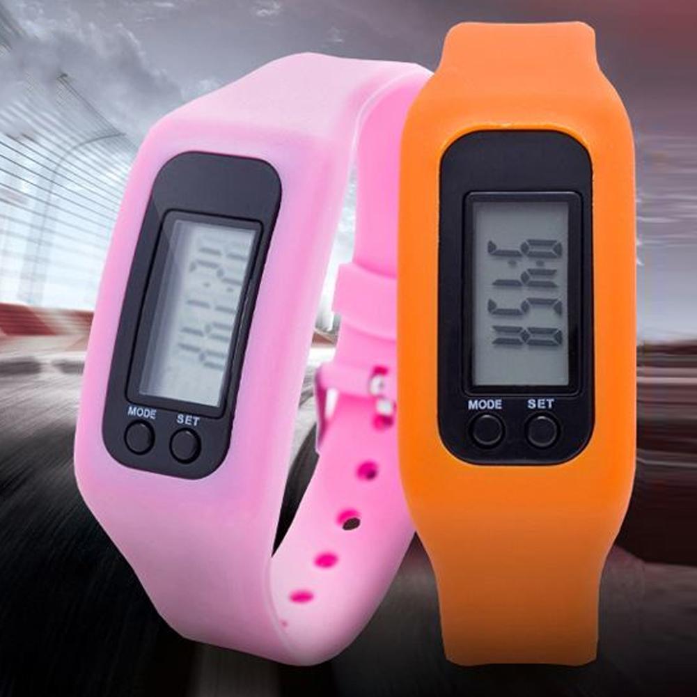 Kids Digital Pedometer Run Step Walking Distance Calorie Counter Bracelet Watch