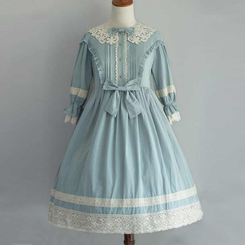 Women Lolita Dress Cosplay Costumes Girl Vintage Palace Princess Dresses Renaissance Ladies Flower Gowns