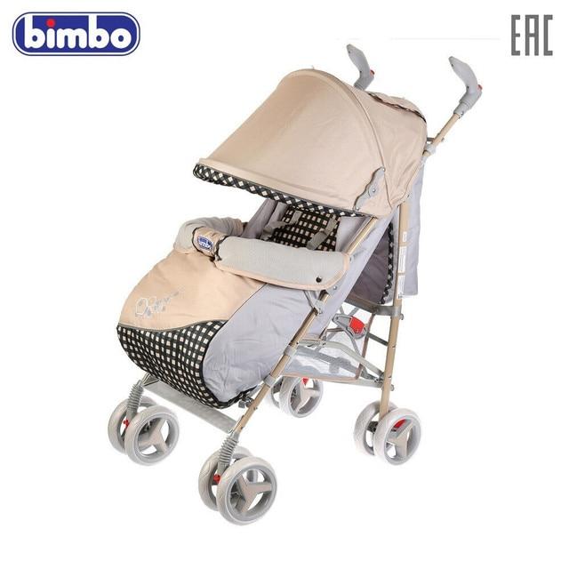 Коляска-трость BIMBO колеса 8*6, глубокое канапе, чехол, 5 точечный ремень, доставка от 2-х дней