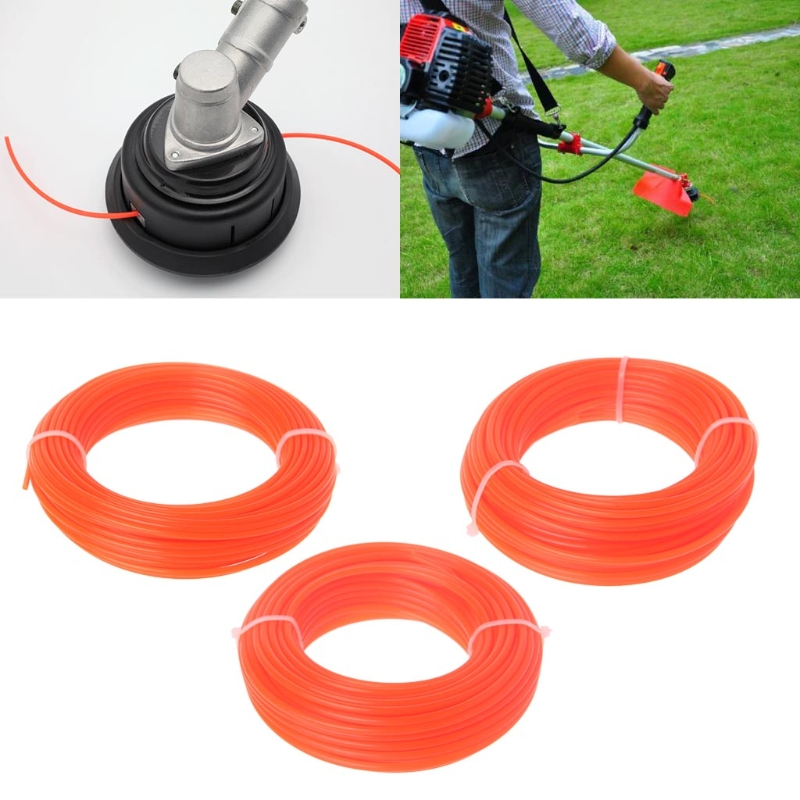 2/2.4/3mm X 15M Nylon Trimmer Line Brush Cutter Strimmer Rope Lawn Mower Wire 35ED