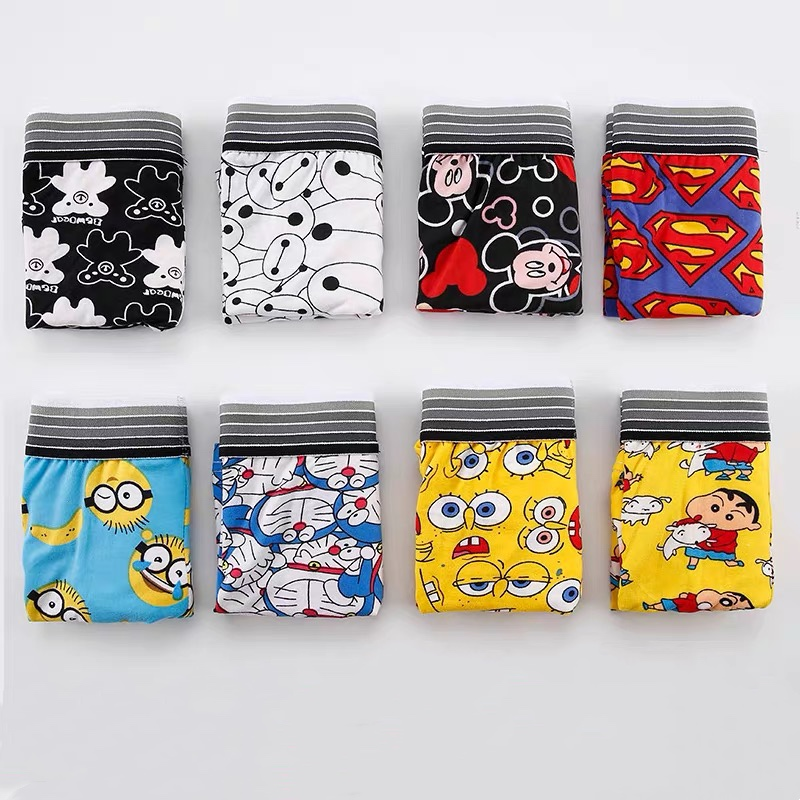 Men's Underwear Personality Trend Multi-style Cartoon Pattern Men's Underwear Sexy Men's Waist Breathable Cotton Underwear Men