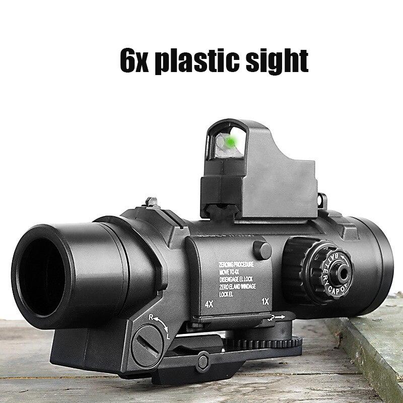 Gel Blaster Toy Gun Accessories Locomotive Plastic Six Times Mirror Boy Toy Gun Eating Chicken Adjustable Magnifier 4