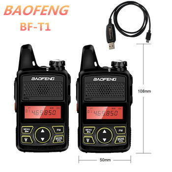 1/2/3/4/5pcs BAOFENG BF-T1 Mini Walkie Talkie Kids UHF Radio Transceiver bf t1 CB Ham Radio Amateur Transmitter BAOFENG T1 Talki обогреватель neoclima t1 0 эвна 1 0 230с2 t1 0 эвна 1 0 230с2