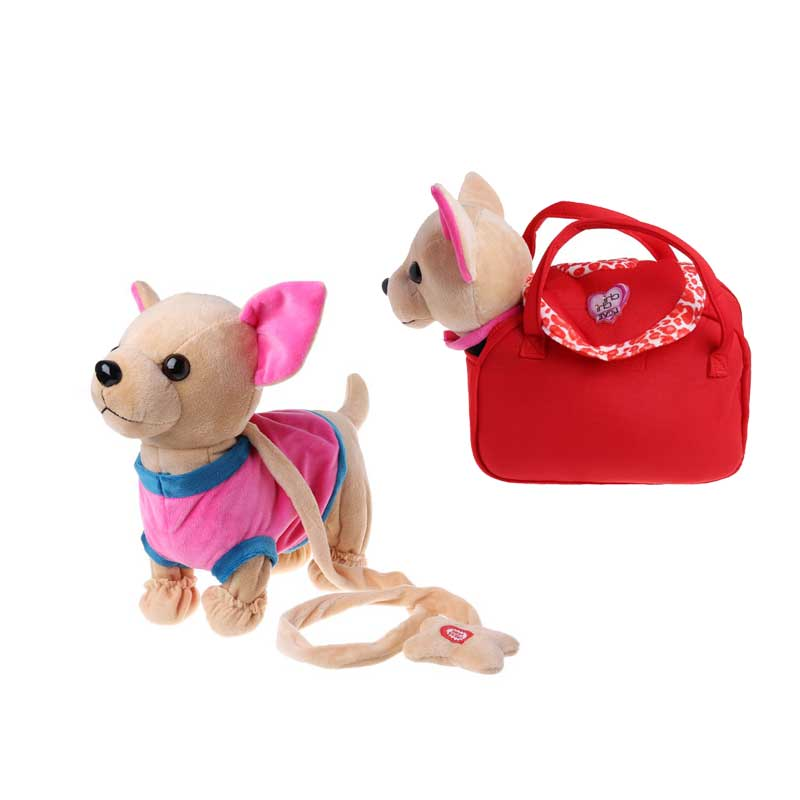 New Electronic Pet Robot Dog Zipper Walking Singing Interactive Toy With Bag For Children Kids Birthday Gifts 95AEElectronic Pets   -