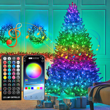 Usb Rgb Led Strip Fairy Lights App Controle Bluetooth Led Lamp For Christmas Tree Decoration Outdoor Room Holiday Lighting 12V