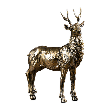 Nordic Antique Elk Statue Creative Home Decoration Accessories Horse Sculpture Desktop Decorations Ornament Businese Gift