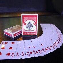 Magiczne karty Svengali Deck Atom karty do gry magiczne sztuczki z bliska Street Stage magiczne sztuczki Kid puzzle dla dzieci