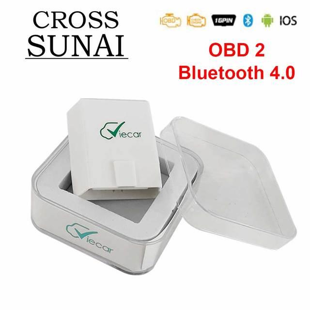 Viecar herramienta de diagnóstico automático de coche, accesorio ELM 327 V1.5 PIC18F25K80 OBD2 Bluetooth 4,0 escáner ODB2 para Android/IOS OBD 2, elm327 v1.5